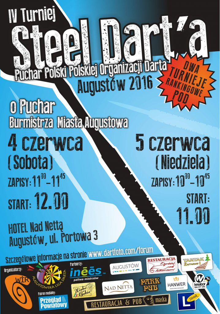 IV Turniej Steel Dart'a Augustów 2015