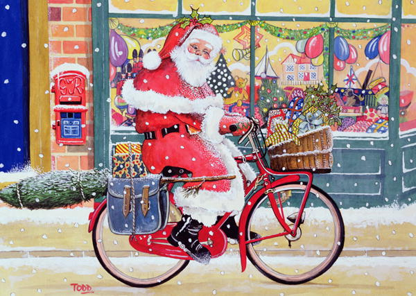 santa-on-bike